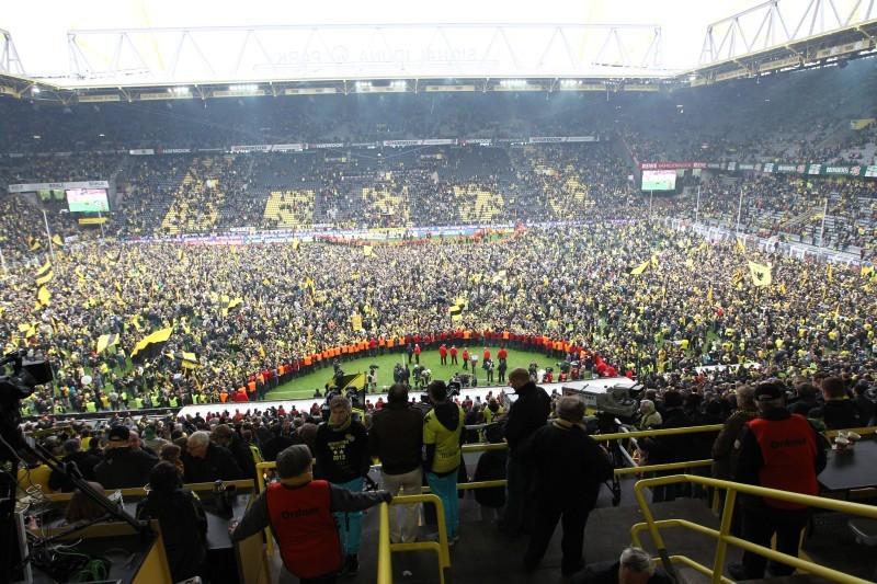 Meisterfeier im Stadion