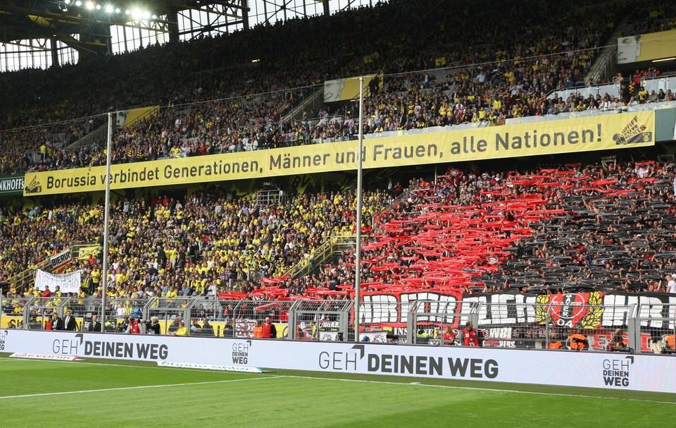 Klare Botschaft im Westfalenstadion schon in 2012