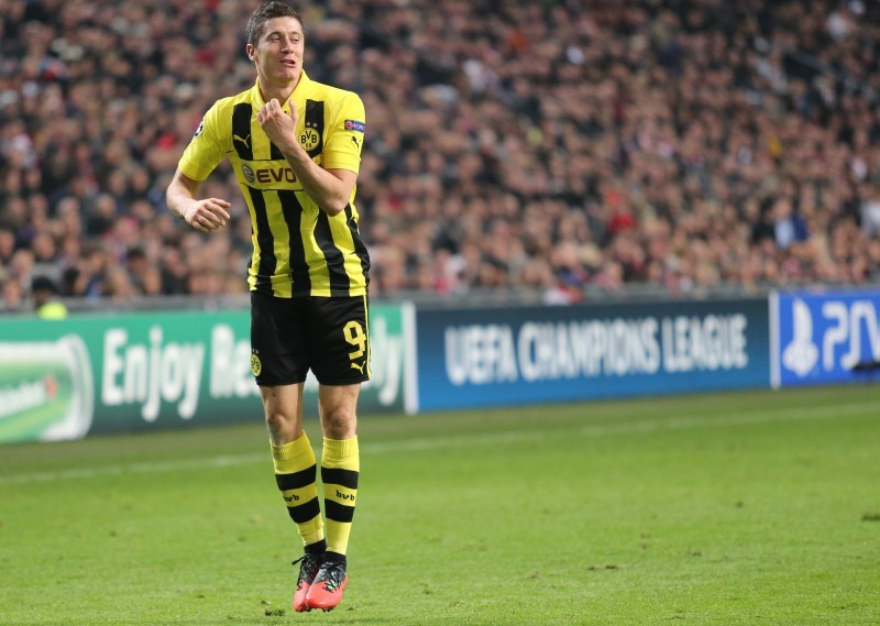 Robert Lewandowski beim Torjubel