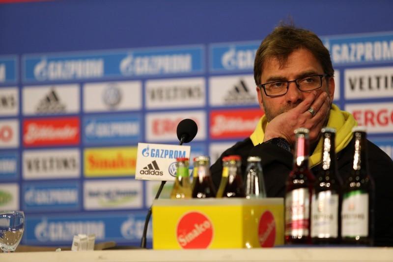 Klopp bei der Pressekonferenz