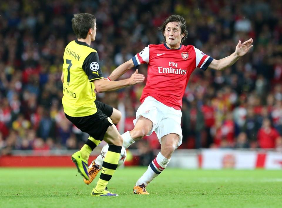 Rosicky mit Arsenal zurück im Westfalenstadion