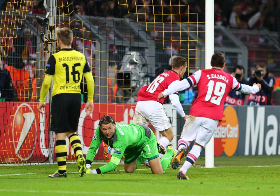 Führungstreffer der Gunners in Dortmund
