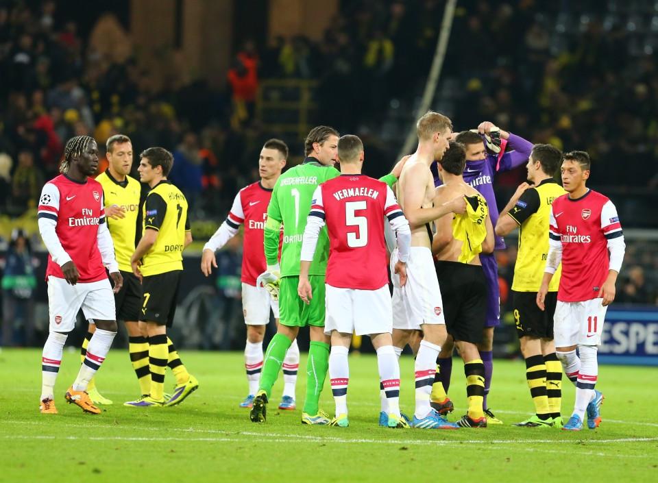 Kräftemessen mit Arsenal 2013/14