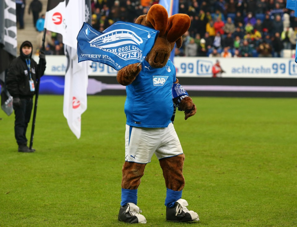 Hoffi, das Maskottchen vom Retortenklub TSG Hoffenheim