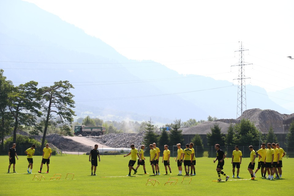 Unbeschwerte Fotos aus dem Trainingslager wie hier aus Bad Ragaz 2013 wird es diesmal nicht geben