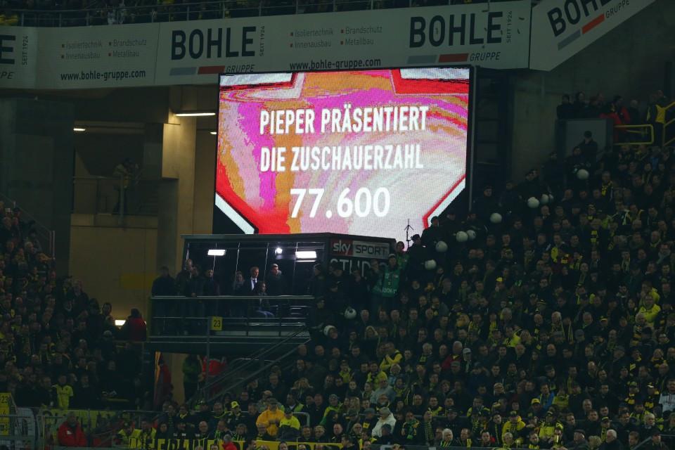 Die Stadion-Kapazität sank 2013 stark ab.
