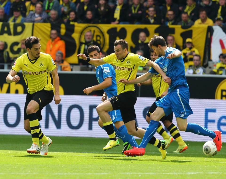 Warm up Borussia Dortmund against TSG Hoffenheim