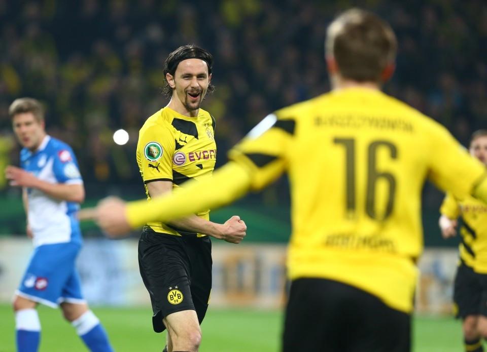 Neven nach seinen Tor im DFB Pokal gegen Hoffenheim