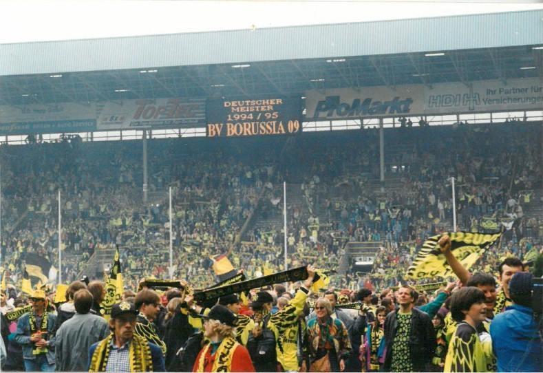 Feiern im Westfalenstadion