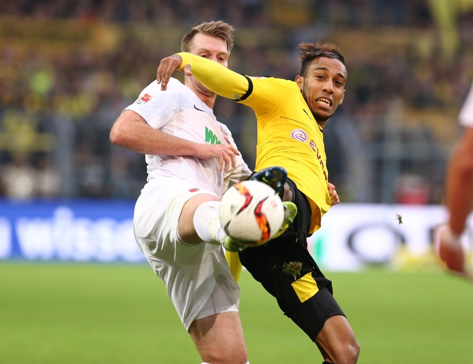 Auba against Augsburg