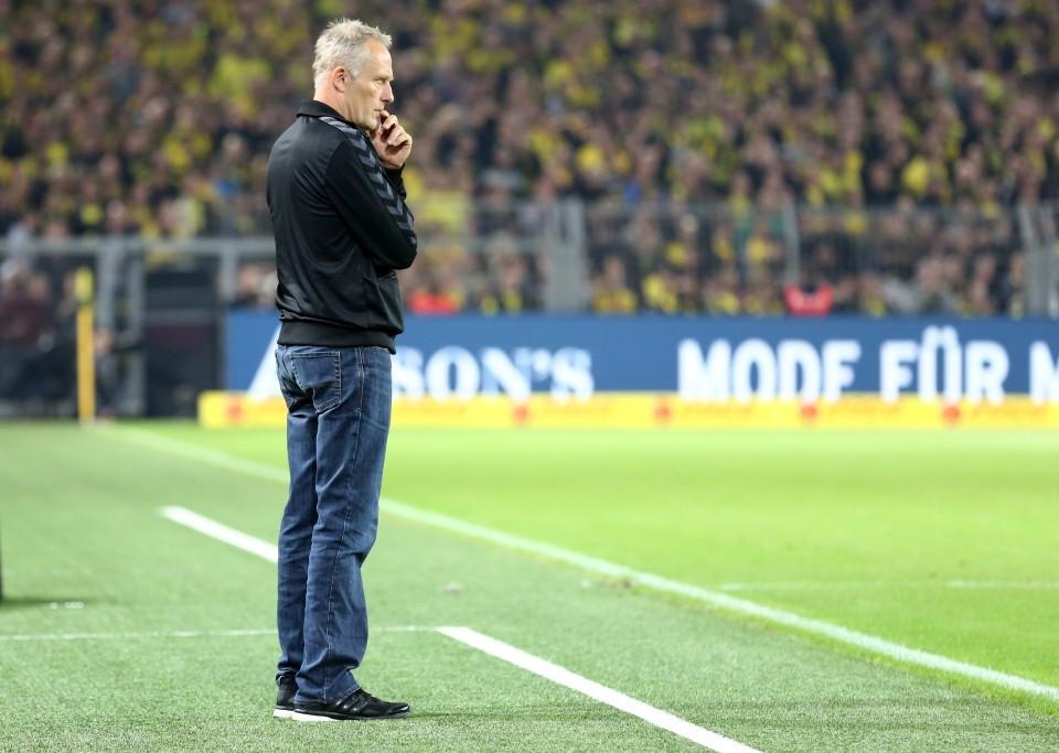 Christian Streich im Westfalenstadion