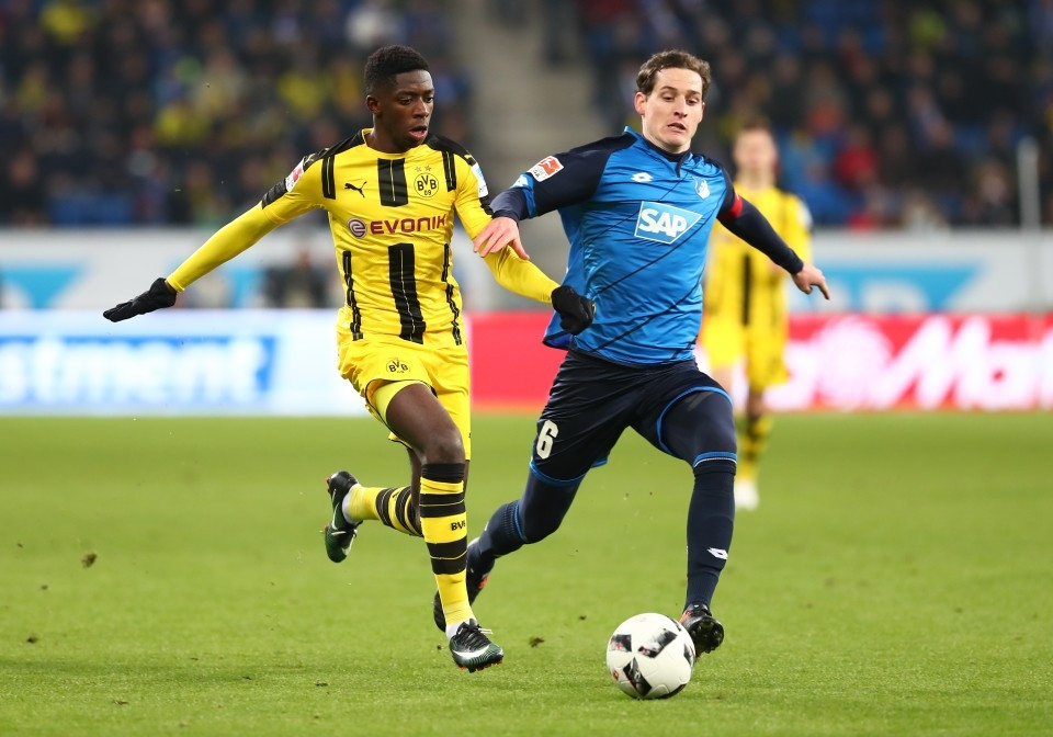 Ousmane Dembélé gegen Sebastian Rudy