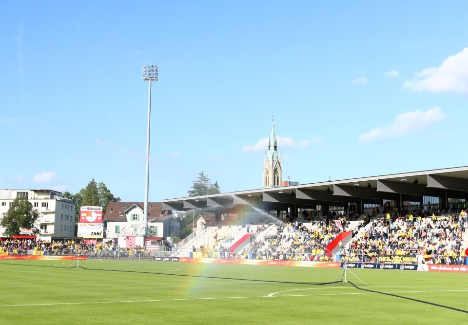 Schmuckes Stadion mit Flair in Winterthur