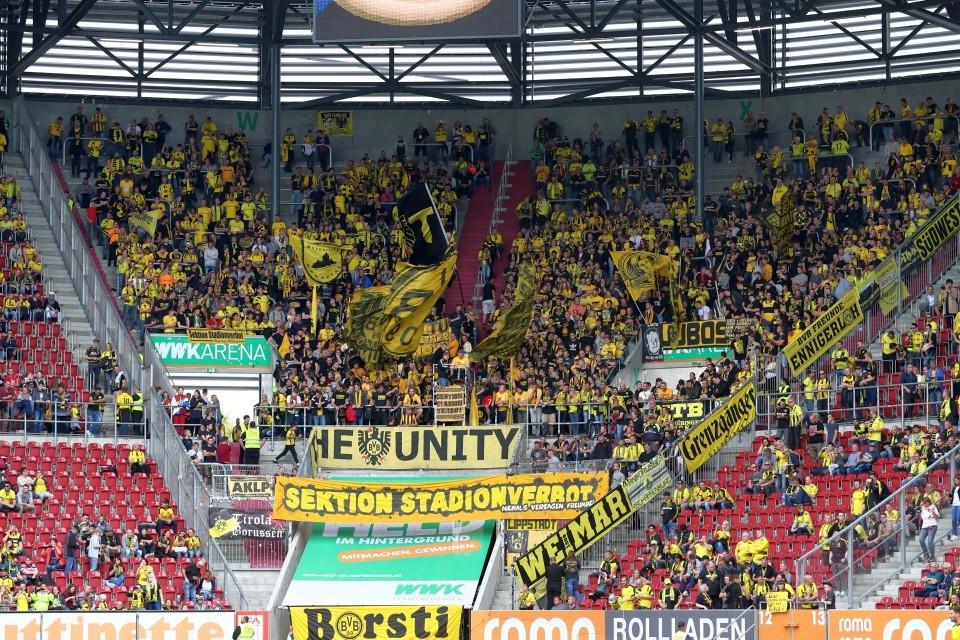 FCA, FC, Augsburg, 1907, 1. Bundesliga, Auswärtssieg, 7. Spieltag, Hinrunde, Saison 201718, Fußball, Borussia, Dortmund, BVB, 09 - FC Augsburg - BVB