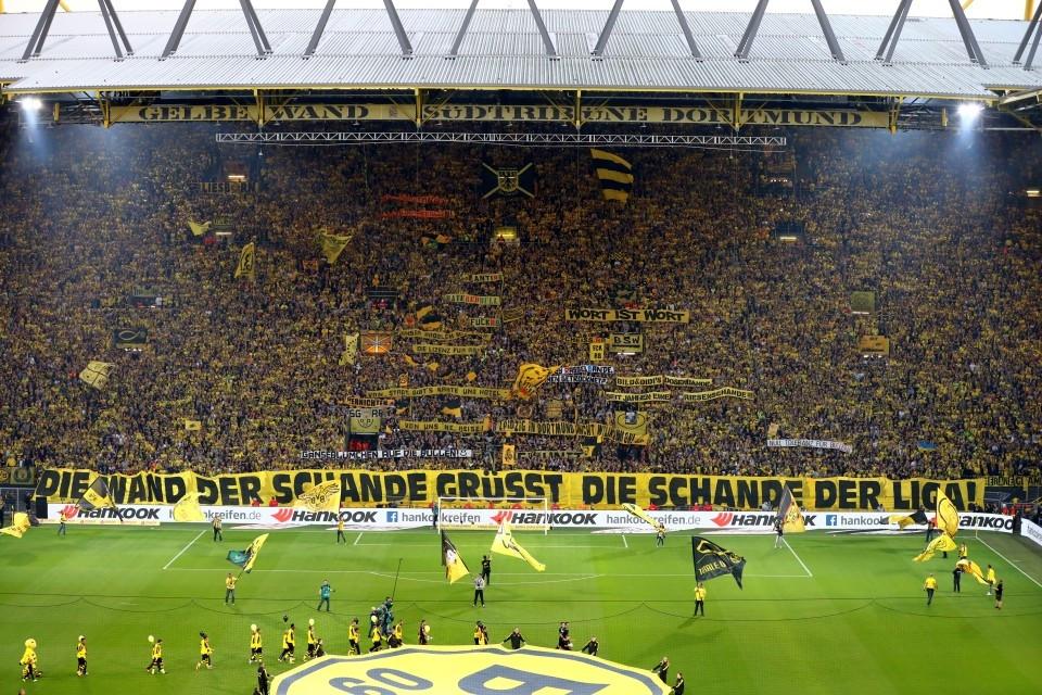 Die Südtribüne vor dem Leipzig-Spiel.