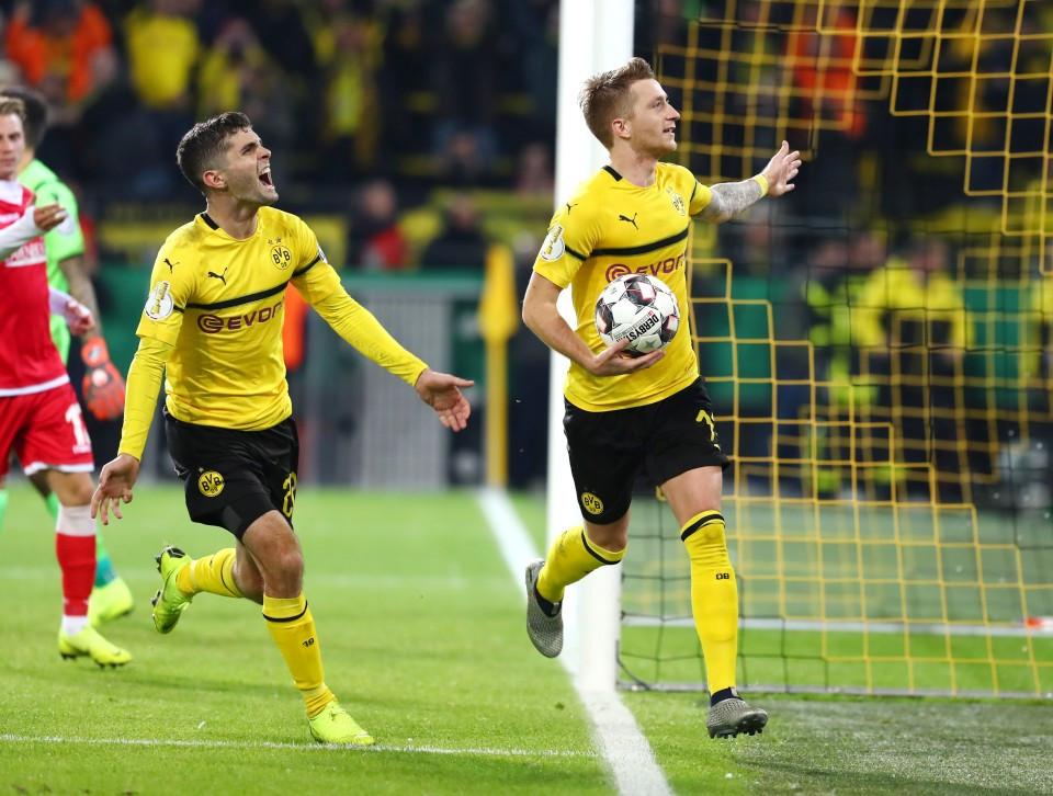 20182019, Vereinspokal, Fussball, Fußball, GER, Herren, Saison, Sport, football, Jubel, Freude, Emotion, jubeln, feiern - BVB - 1. FC Union Berlin
