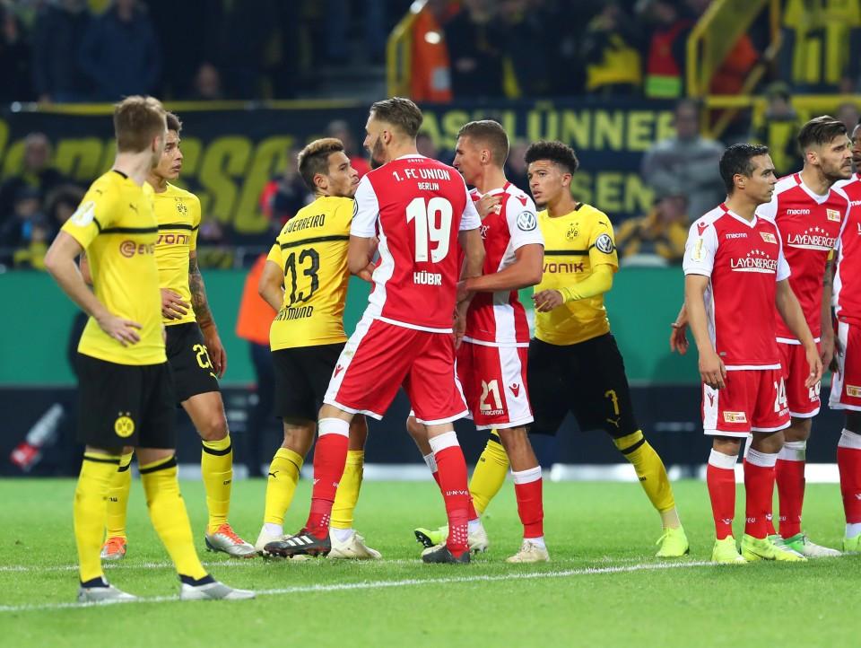 20182019, Vereinspokal, Fussball, Fußball, GER, Herren, Saison, Sport, football, besprechen, austauschen, unterhalten - BVB - 1. FC Union Berlin
