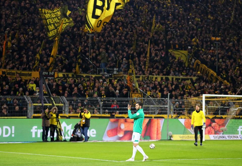 201819, 1. Bundesliga, Fussball, Fußball, GER, 1.BL, 1. BL, Herren, Saison, Sport, football, Emotion, verabschieden, Gestik, Handbewegung - BVB - Werder Bremen