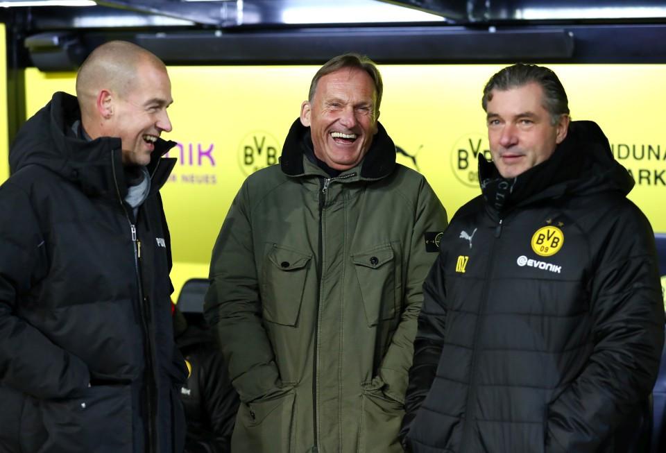 201819, 1. Bundesliga, Fussball, Fußball, GER, 1.BL, 1. BL, Herren, Saison, Sport, football, Halbfigur, halbe, Figur, Halbkörper, besprechen, austauschen, unterhalten, lächeln, lachen, scherzen, Emotion, grinsen - BVB - Werder Bremen