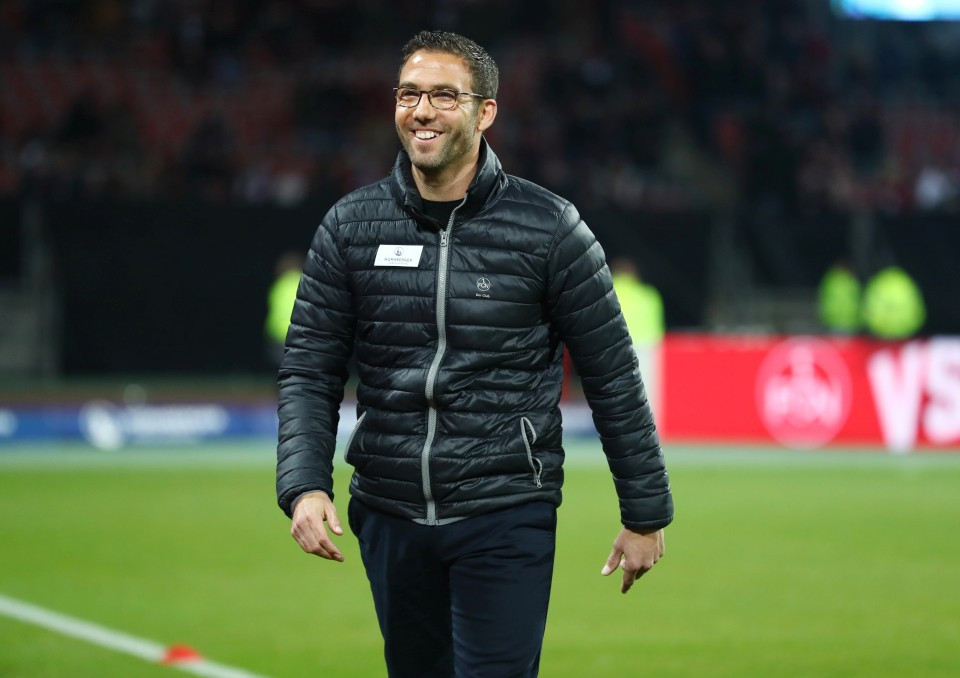 201819, 1. Bundesliga, Fussball, Fußball, GER, 1.BL, 1. BL, Herren, Saison, Sport, football, Halbfigur, halbe, Figur, Halbkörper, lächeln, lachen, scherzen, Emotion, grinsen - 1. FC Nürnberg - BVB