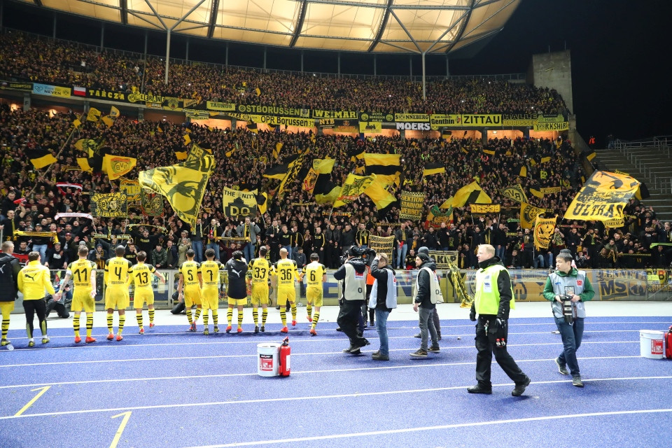 1. Bundesliga, 26. Spieltag, Hertha, BSC, Berlin, Berliner, Sportclub, Rückrunde, Auswärtsspiel, Auswärtssieg, Saison, 2018-19, 2018-2019, Fußball, Borussia, Dortmund, BVB, 09 - Hertha BSC - BVB