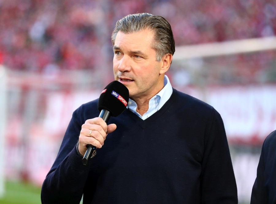 201819, 1. Bundesliga, Fussball, Fußball, GER, 1.BL, 1. BL, Herren, Saison, Sport, football, Halbfigur, halbe, Figur, Halbkörper, Mikrofon - FC Bayern München - BVB