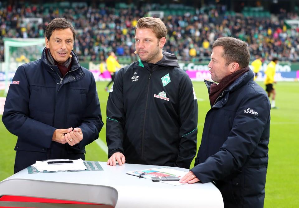 201819, 1. Bundesliga, Fussball, Fußball, GER, 1.BL, 1. BL, Herren, Saison, Sport, football, Halbfigur, halbe, Figur, Halbkörper, Mikrofon, Interview, besprechen, austauschen, unterhalten - SV Werder Bremen - BVB