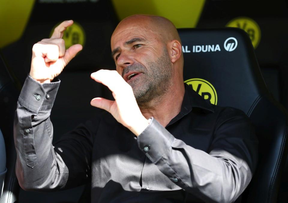 201920, 1. Bundesliga, Fussball, Fußball, GER, 1.BL, 1. BL, Herren, Saison, Sport, football, Halbfigur, halbe, Figur, Halbkörper, Gestik, Handbewegung - BVB - Bayer 04 Leverkusen