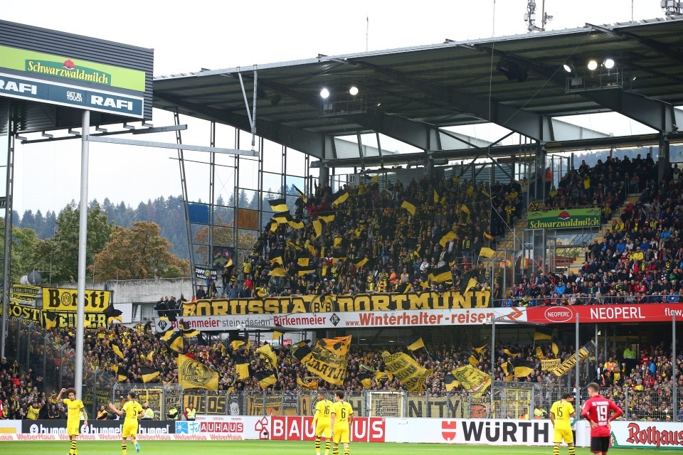 1. Bundesliga, Hinrunde, 7. Spieltag, Auswärtsspiel, Unentschieden, SC, SCF, Sport-Club, Freiburg, Fußball, Saison, 2019-2020, Borussia, Dortmund, BVB, 09 - SC Freiburg - BVB