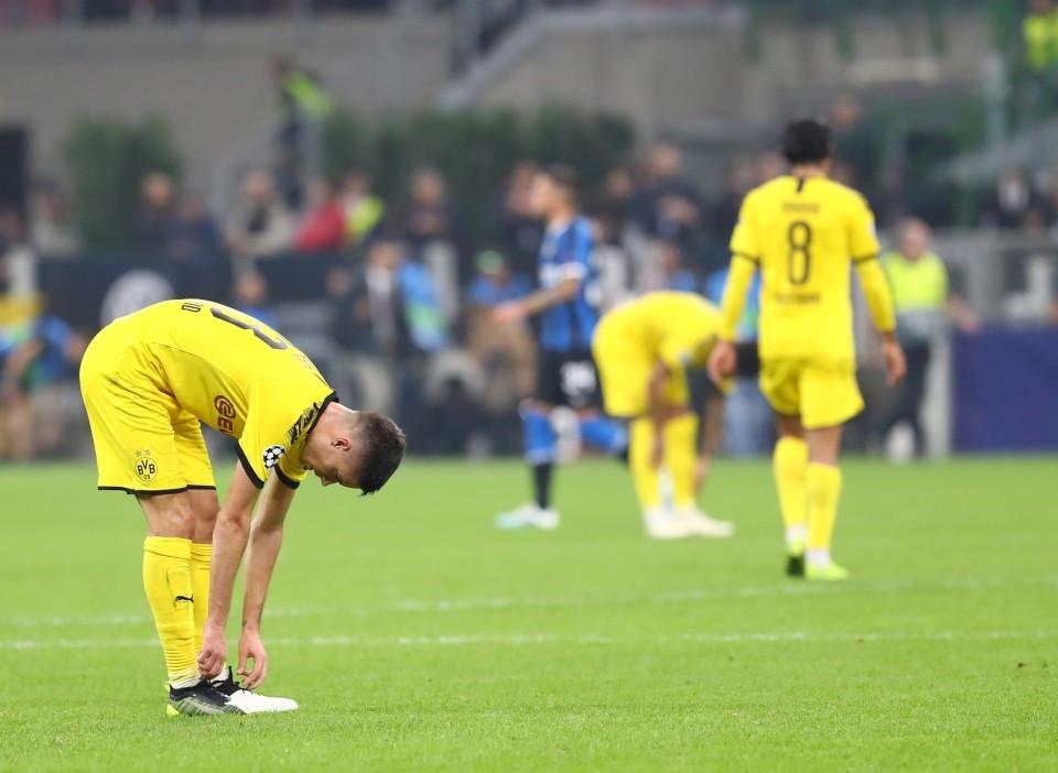 201920, Fussball, Fußball, UEFA, Herren, Saison, Sport, football, Gruppenphase, Vorrunde, UCL, nachdenklich, verhalten, grübelt, grübeln, grimmig, niedergeschlagen, enttäuscht - Inter Mailand - BVB