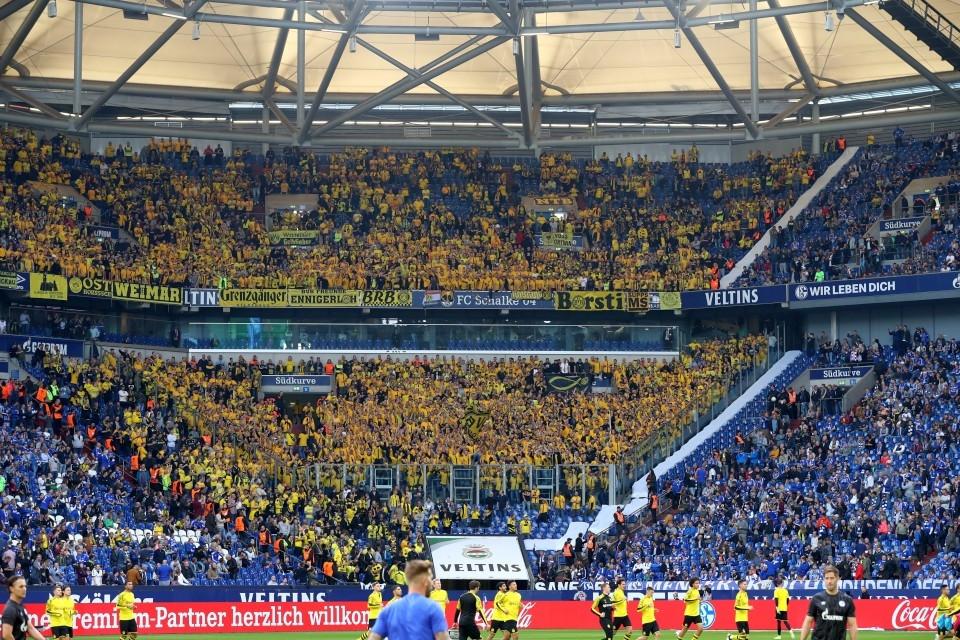 1. Bundesliga, 9. Spieltag, FC, Schalke, 04, S04, Auswärtsspiel, Derby, Fußball, Saison, 2019-2020, Borussia, Dortmund, BVB, 09 - Gelsenkirchen - BVB