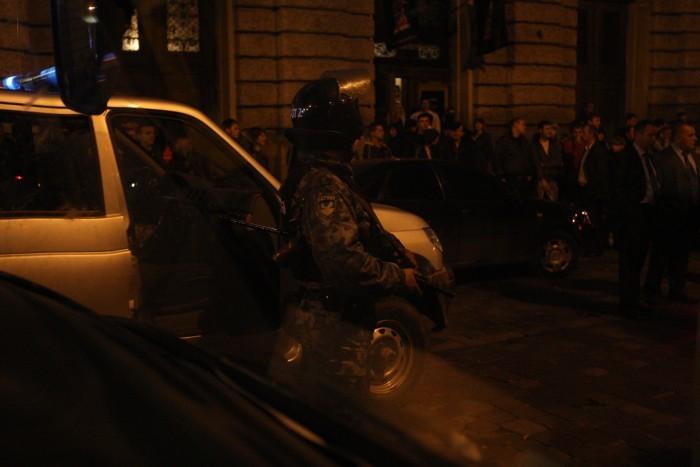 Auch in Lviv machte man Bekanntschaft mit der Polizei