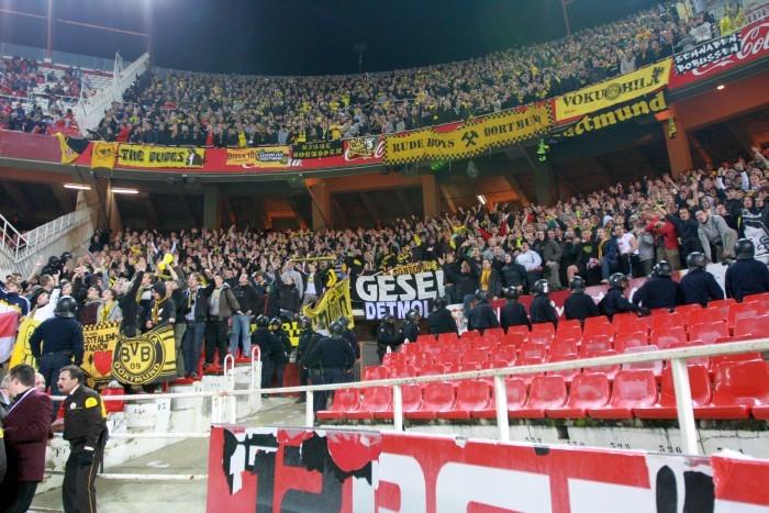 Gästeauftritt beim Spiel in Sevilla
