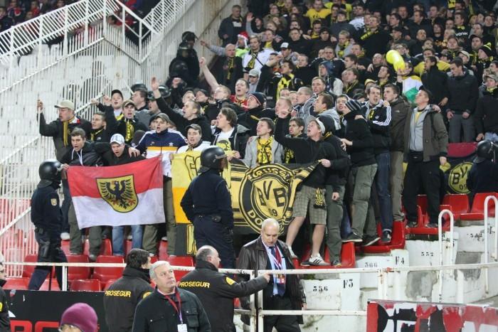 Nach dem Spiel wurden 15 BVB-Fans willkürlich festgenommen