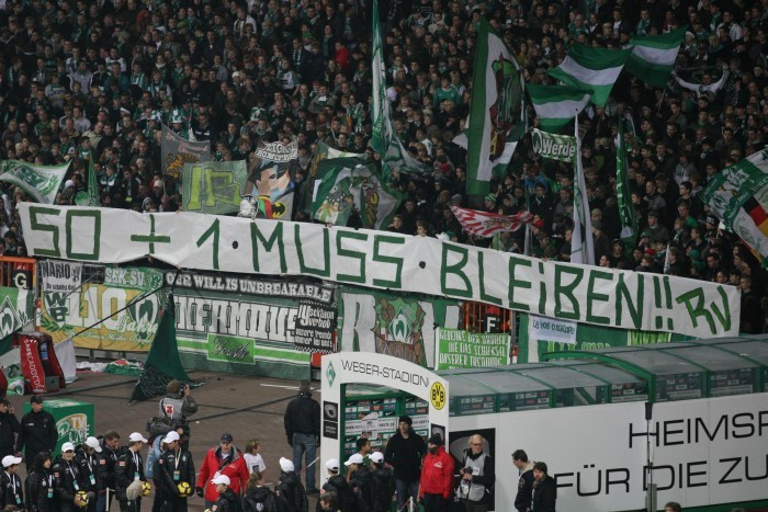 50+1-Banner in Bremen 2009