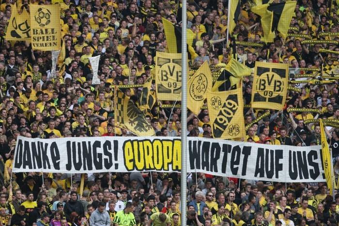 2010 beim Heimspiel gegen Wolfsburg