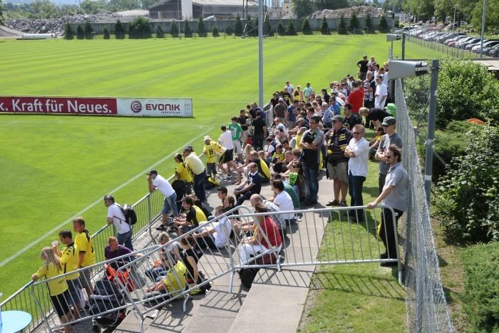 Fans sind im Amas-Trainingslager eher selten