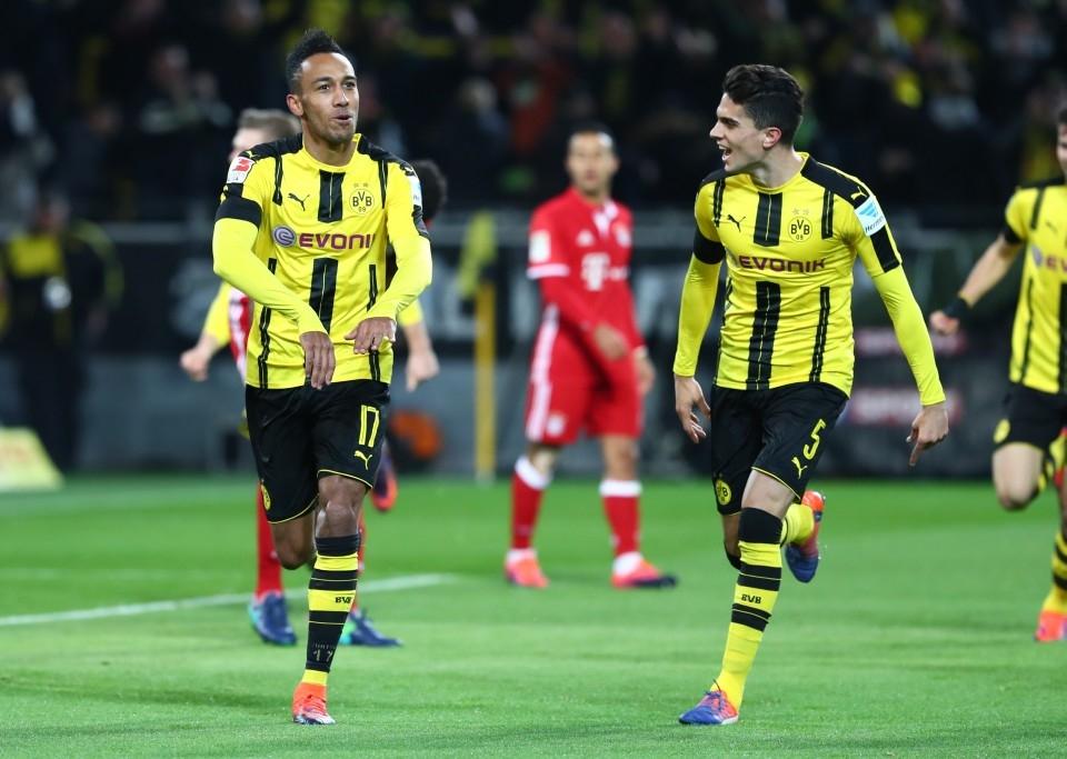 Auba bejubelt das Siegtor gegen die Bayern