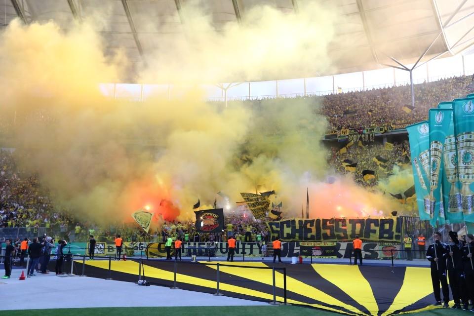 Während des Pokalfinales in Berlin.